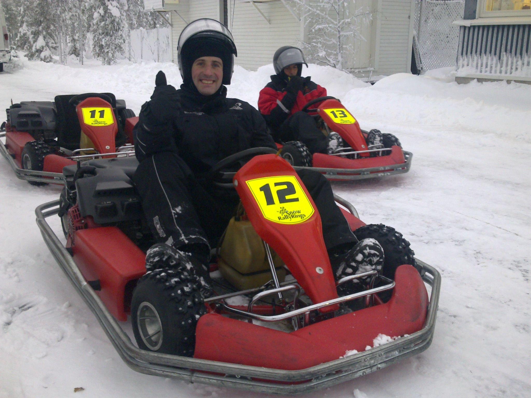 Karts sobre hielo en Rovaniemi