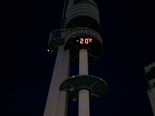 Rovaniemi, -20°C grados en Lordin Aukio (Plaza de Lordi, 16.12.2009)