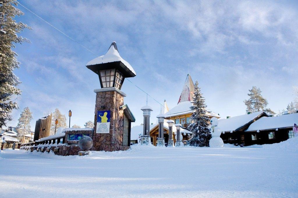 Pueblo de Papá Noel en Invierno