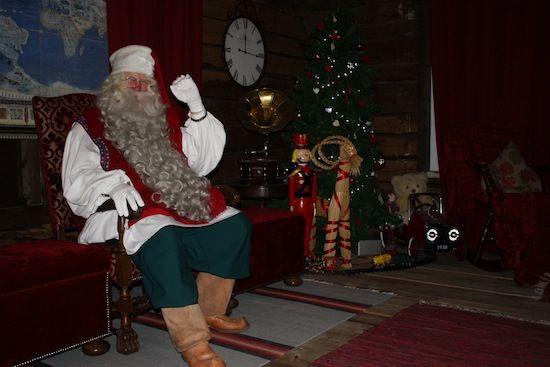 Papá Noel en Santa Park Rovaniemi