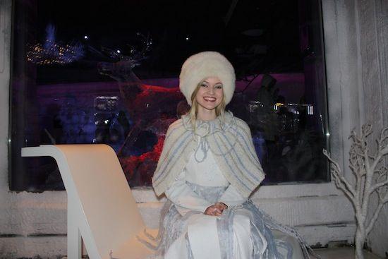 Princesa de hielo en Santa Park Rovaniemi