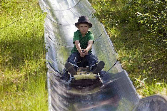 Una actividad divertida para todas las edades: bobsleigh de verano en Rovnaniemi, Finlandia