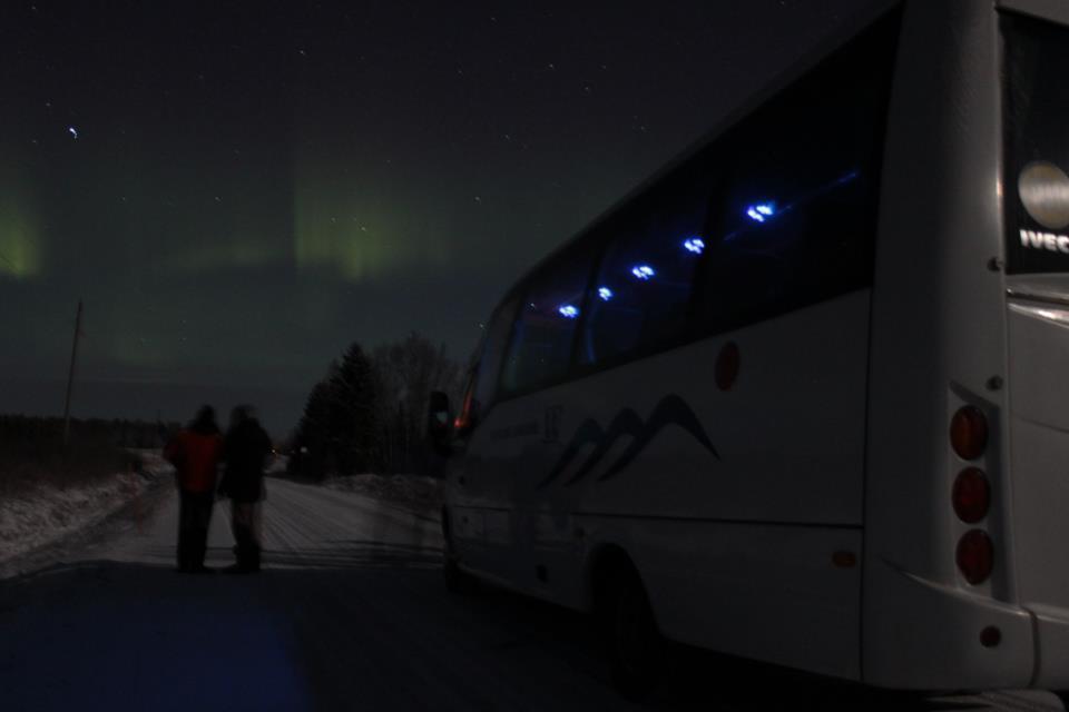 Aurora Boreal en Rovaniemi 3.12.2012 (foto: Carlos López)