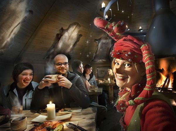 De cena en Joulukka, Rovaniemi