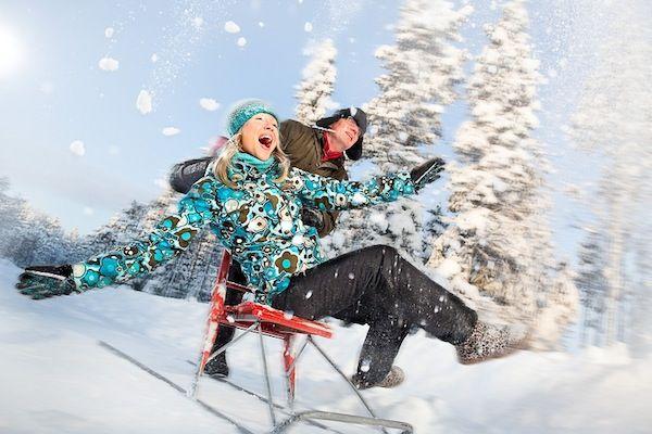 Patinete de nieve en Joulukka en Rovaniemi