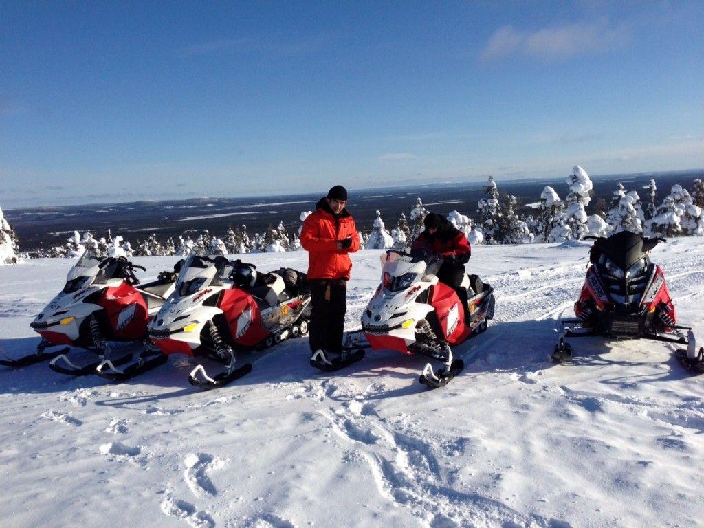 Viaje Rovaniemi-Luosto en moto de nieve