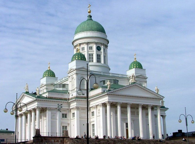La catedral luterana de Helsinki, Finlandia