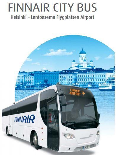 Conexiones de autobús entre el aeropuerto y Helsinki