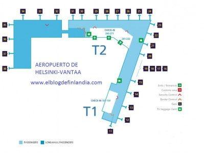 Plano del aeropuerto de Helsinki-Vantaa, Finlandia