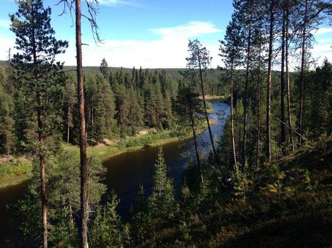 Río Oulankajoki en el Karhunkierros, Ruta del Oso