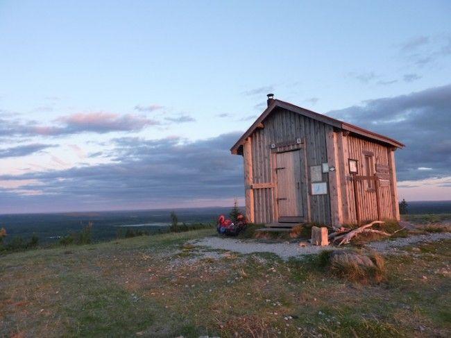 Refugio de Valtavaara en Senda del Oso, a 3km del final del Karhunkierros en Ruka (