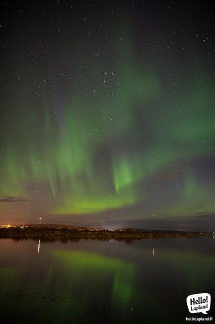 Auora boreal sobre Rovaniemi, Laponia, Finlandia (13.9.2013) Foto: Hello Lapland