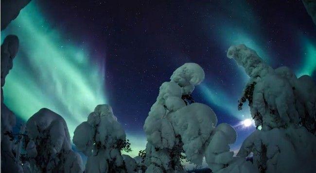 Auroras boreales en Lapoinia finlandesa