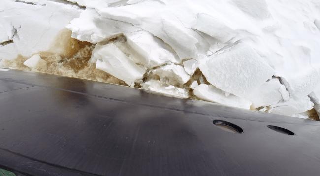 Rompiendo hielo en el Báltico