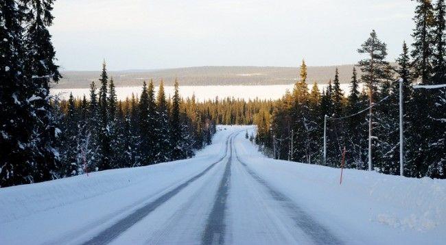 Carretera en invierno.