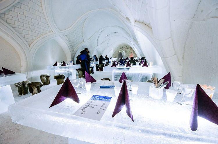 Restaurante de hielo en Castillo - Kemi