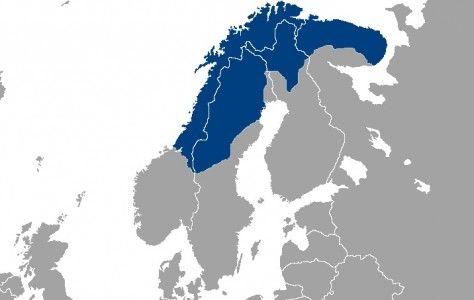 Localización del pueblo Sami