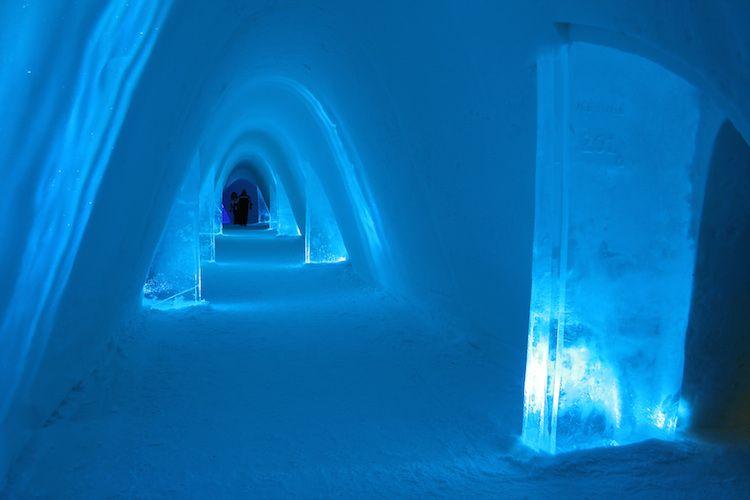 Pasillos del SnowVillage en Laino (Laponia). Año 2013