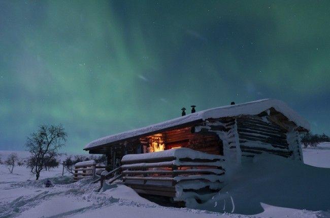 Aurora Boreal en Pallas Parque Nacional