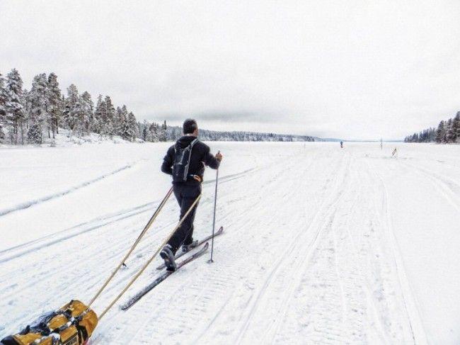 Entrando en el lago Sinettä