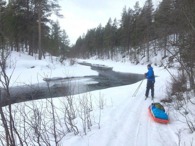 Excursion primaveral en el parque nacional de Lemmenjoki