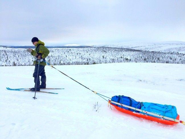 En una de las multiples colinas del parque nacional de Lemmenjoki