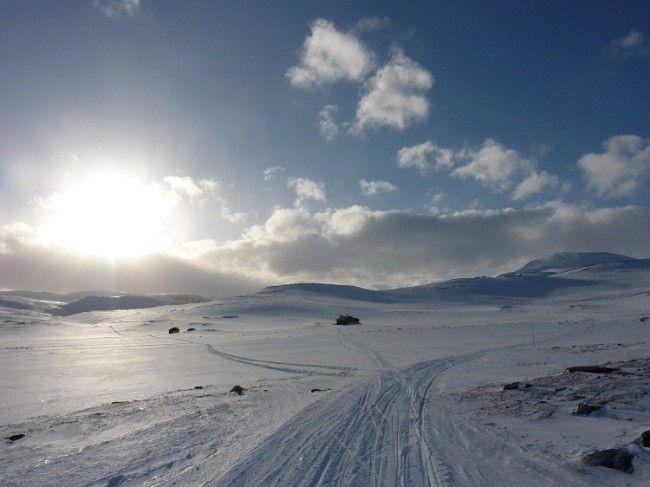 Nieve en las montañas de Finlandia