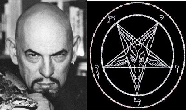 Anton LaVey y Sigilo-de Baphomet símbolo de la Iglesia de Satan