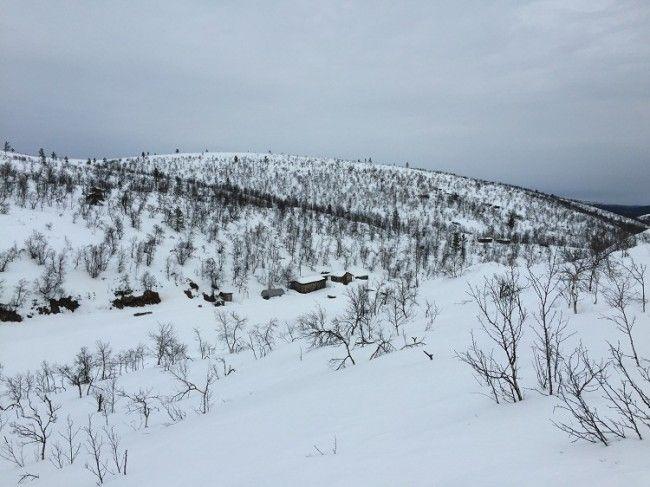 Cabañas de mineros en el parque nacional de Lemmenjoki