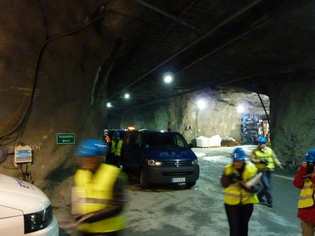 Interior mina de oro en Kittilä
