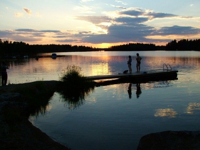Medianoche de verano en Laponia