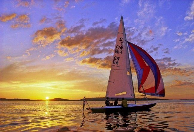 Navegando durante el Sol de Medianoche