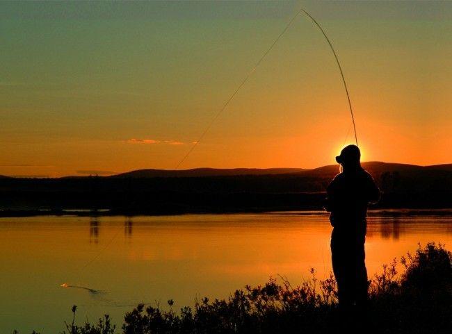 Pescando bajo el Sol de Medianoche