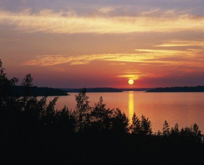 Sol de Medianoche en Laponia