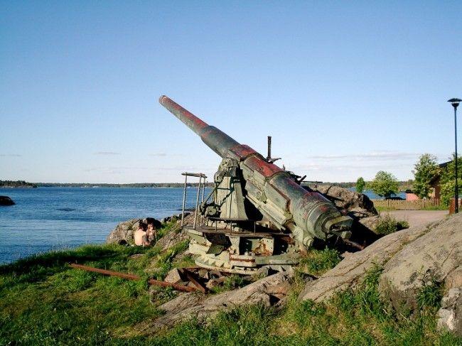 Cañon ruso en Suomenlinna
