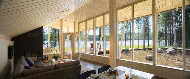 Villa a orillas del lago detalle del interior