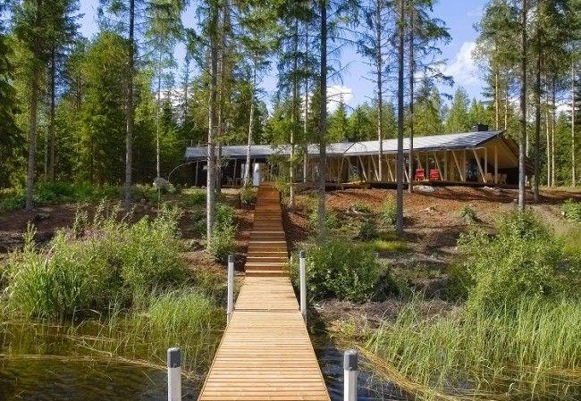 Villa a orillas del lago
