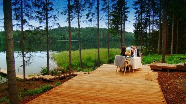 Villa a orillas del lago. Una cena especial