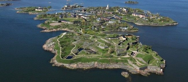 Vista aérea de Suomenlinna