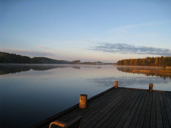 Vista del lago Saima desde la villa de Anttolanhovi