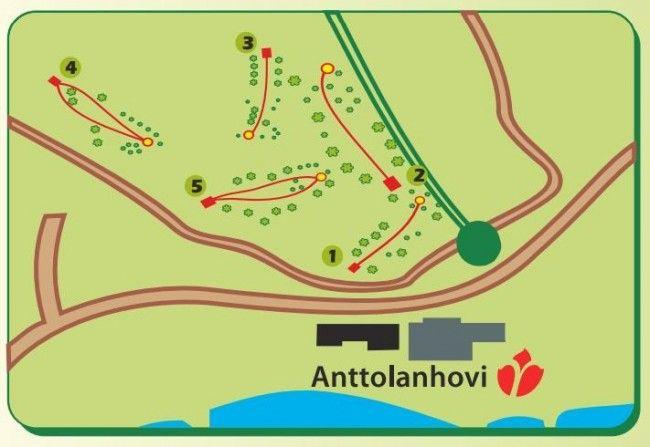 Campo de Disc Golf en Anttolanhovi