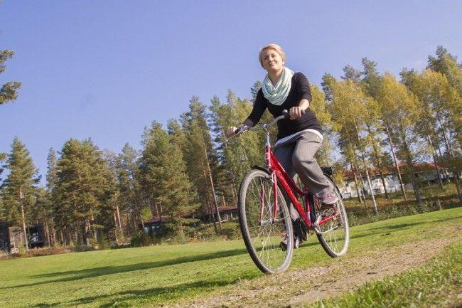 Paseos en bicicleta. Una manera tranquila y relajante de llegar a Ollinmäki