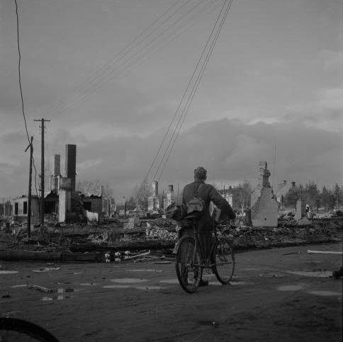 Rovaniemi el dia 17 de octubre de 1944