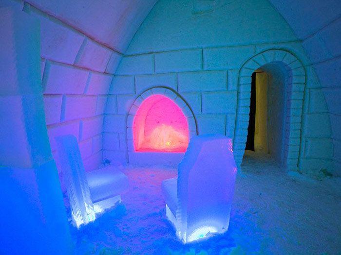 Castillos y hoteles de nieve