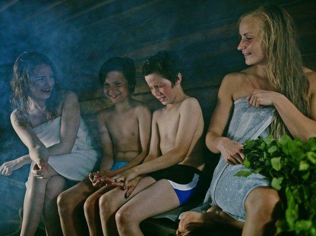 La sauna es para todas las edades