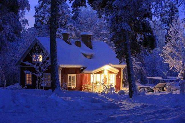 Disfrutar finlandia en una caba a en el bosque - Cabana invierno ...