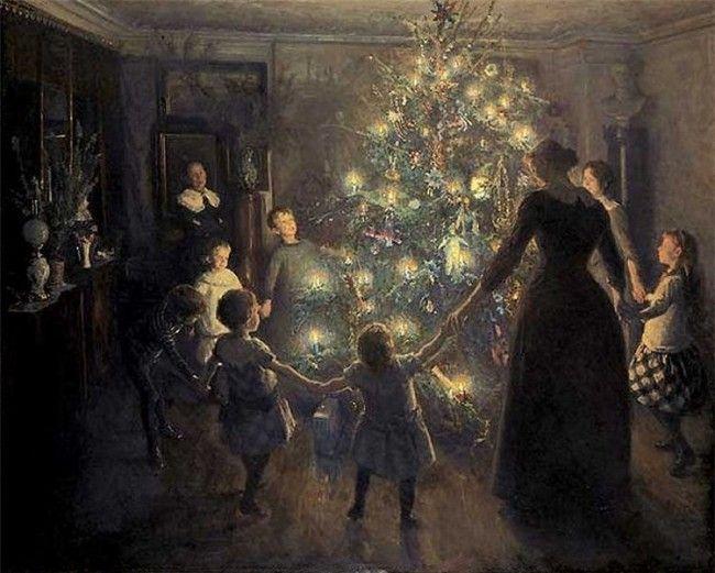 Feliz Navidad en 1891. Autor: Viggo Johansen