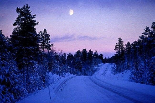 """Otro buen ejemplo de """"Kaamos"""" esta vez con luna creciente"""