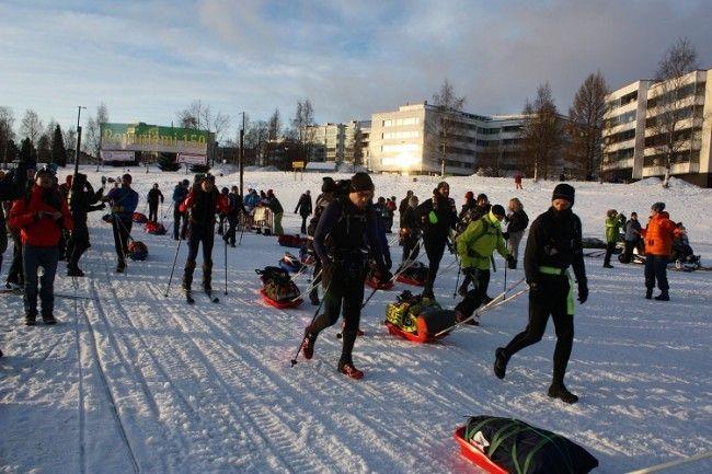 Curiosamente pocos son los esquiadores que participan