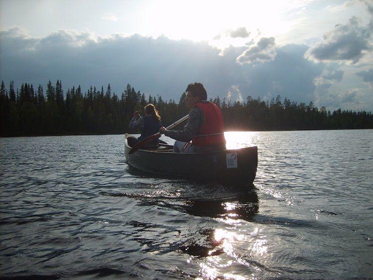 Excursión con canoa